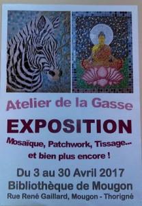affiche expo bibliothèque Mougon bis